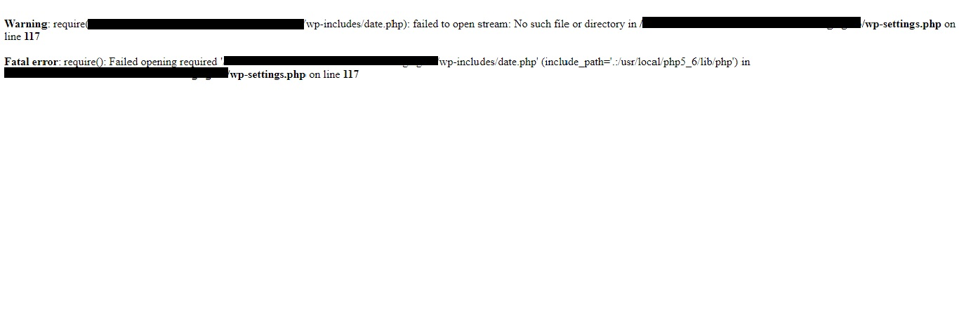 Failed to Open Stream Error